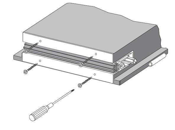 Крепление автоматического порога через боковые пластины